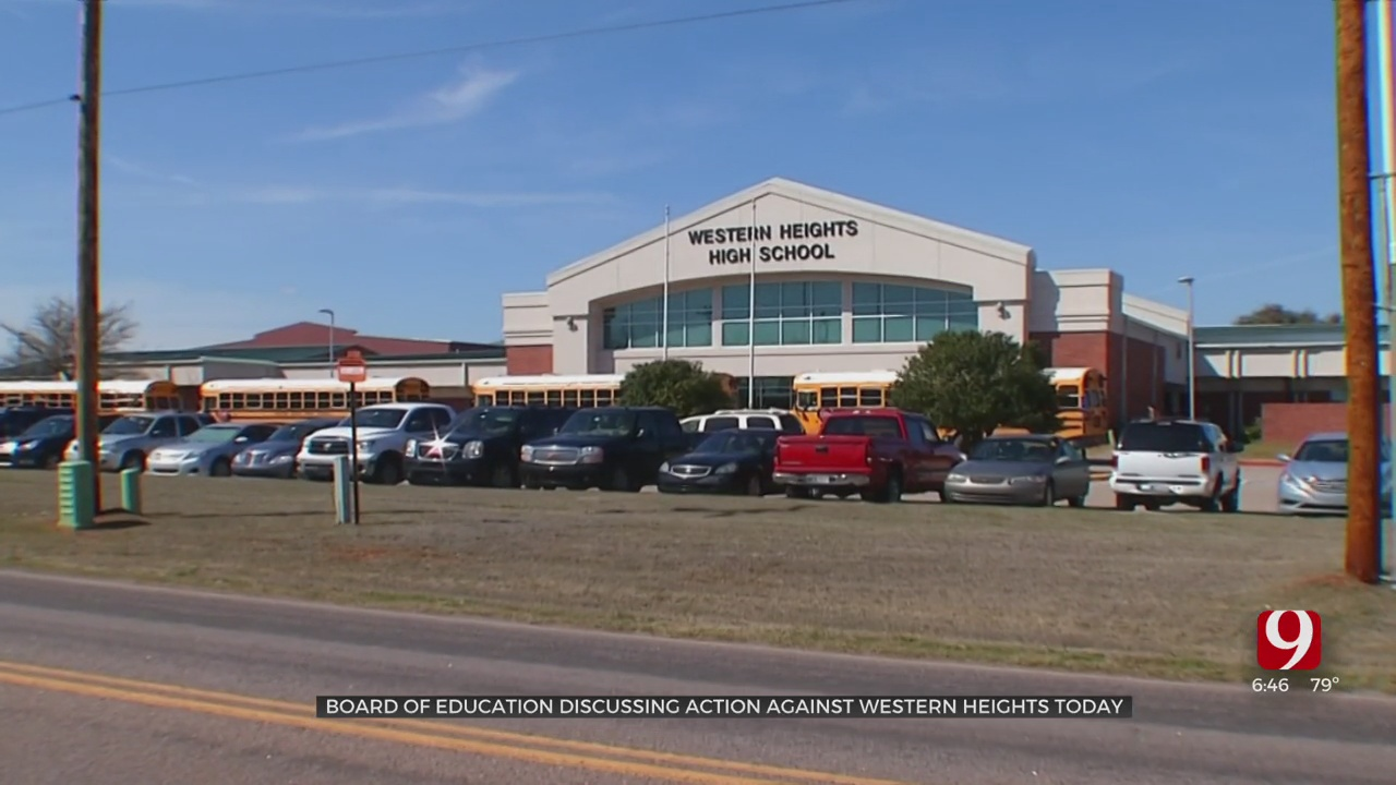 State Board Of Education Expected To Discuss Potential Action Against Western Heights Superintendent