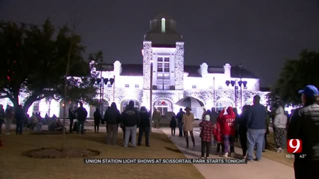 Union Station In Scissortail Park In Holiday Spirit With New Light Shows