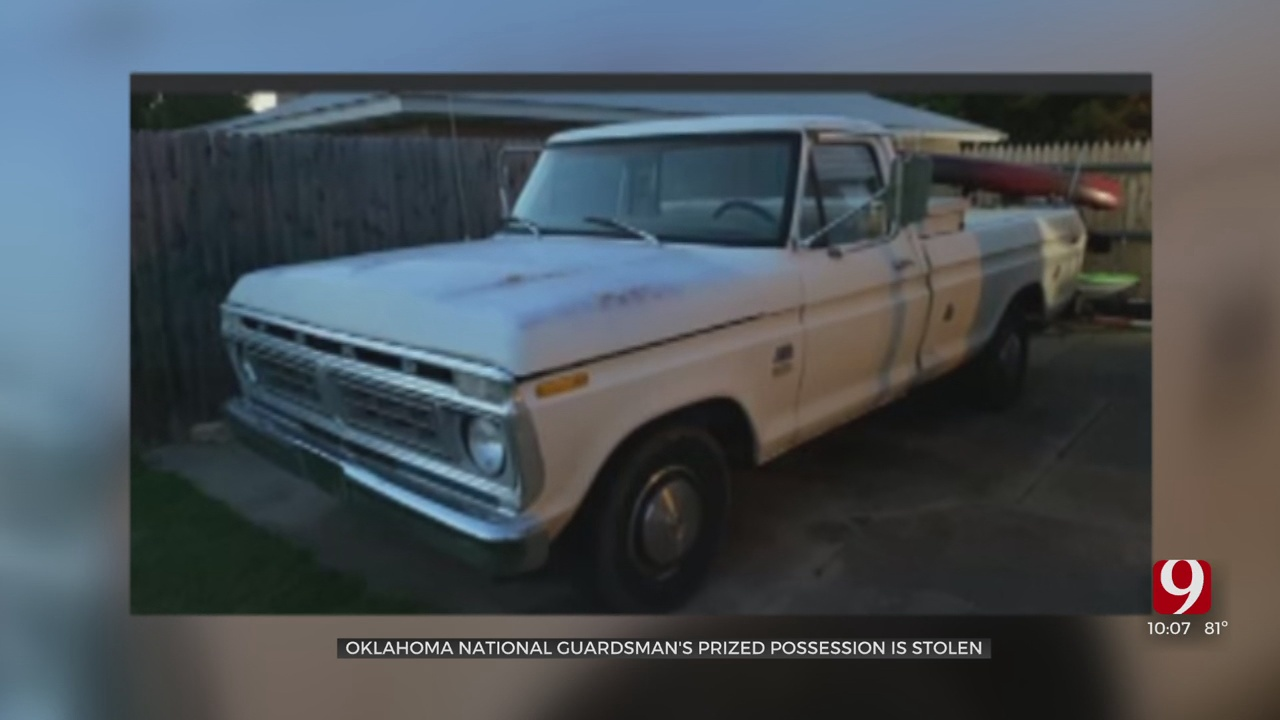 Oklahoma Army National Guard Sniper Returns Home From Training To Find Pickup Truck Stolen