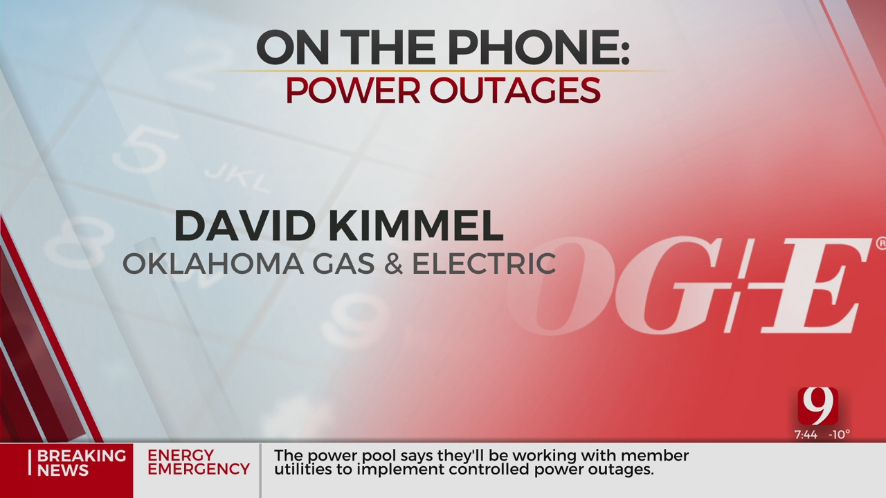 WATCH: OG&E Spokesman Answers Questions About Rolling Blackouts