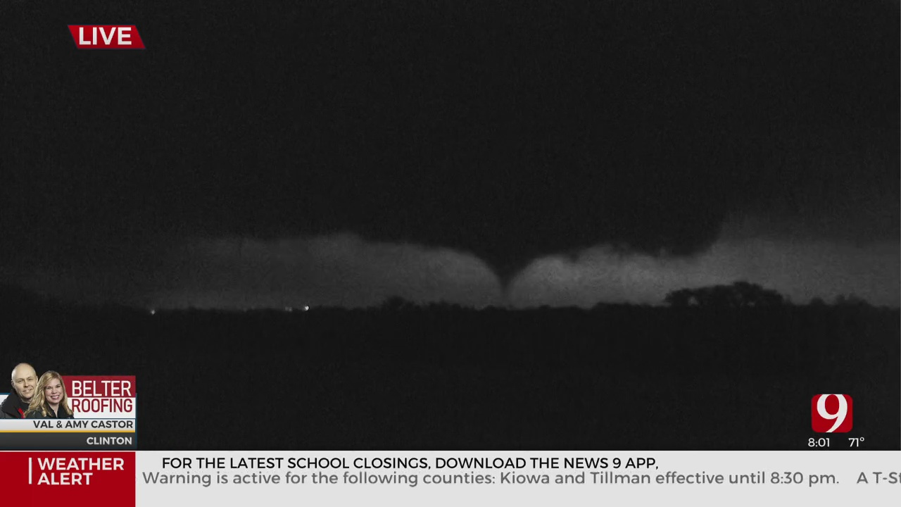 WATCH: Tornado On The Ground In Clinton, Oklahoma