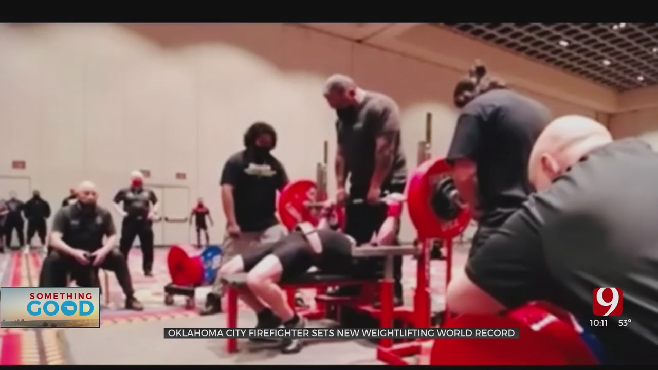 OKC Firefighter Sets New Weightlifting World Record