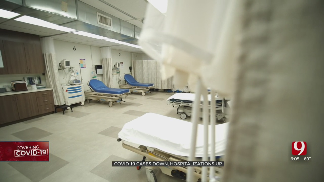 COVID-19 Cases Going Down, Hospitalizations Remain High