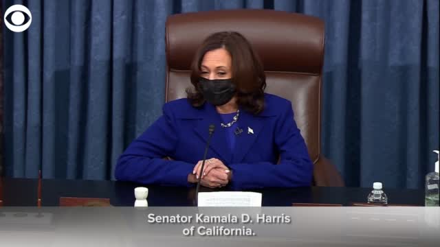 VP Kamala Harris Reads Out Certificate Of Her Resignation