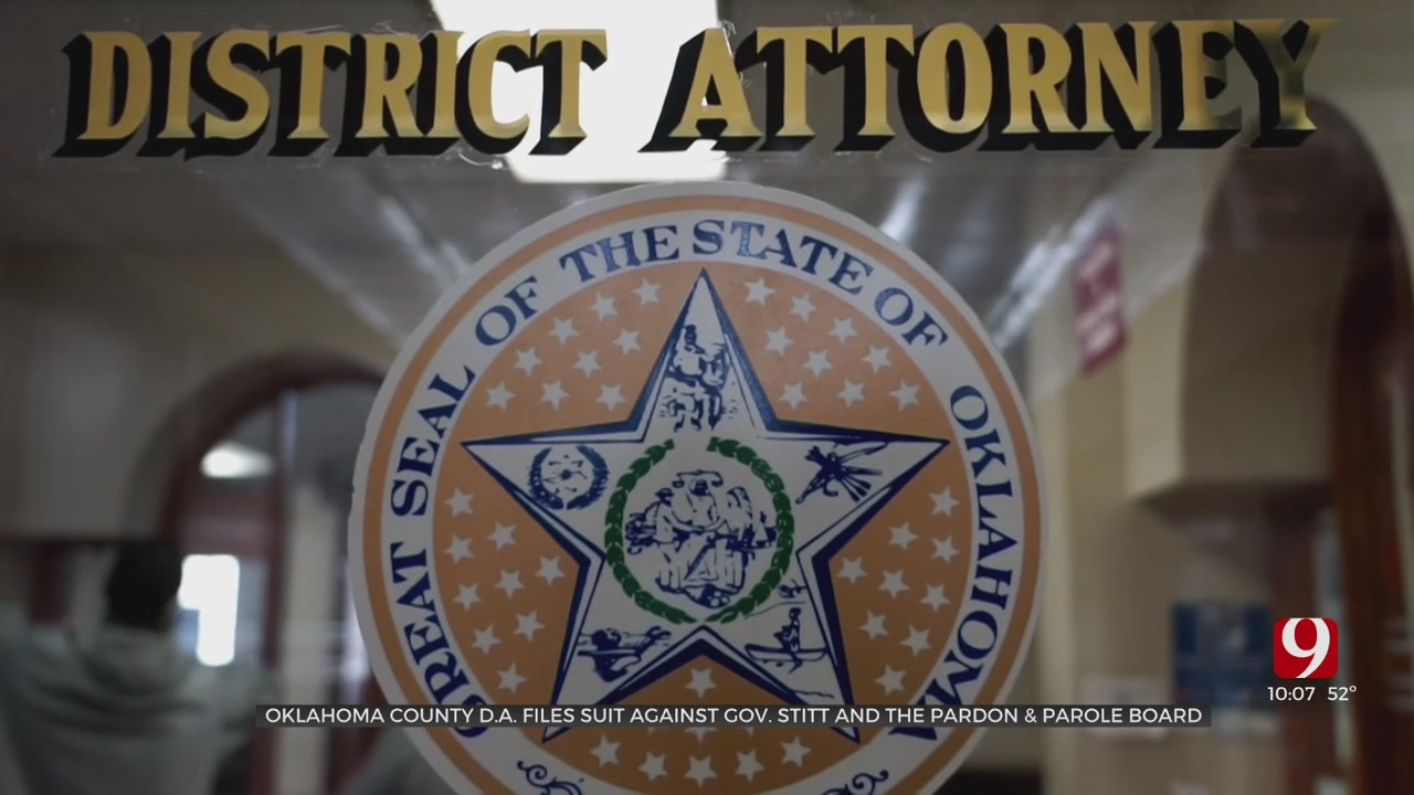 Oklahoma County DA Suing Gov. Stitt, Pardon & Parole Board