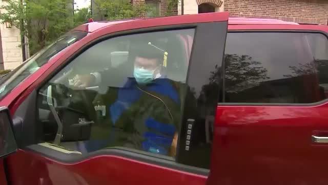 High School Principal Goes Door-To-Door To Hand Out Diplomas To Seniors