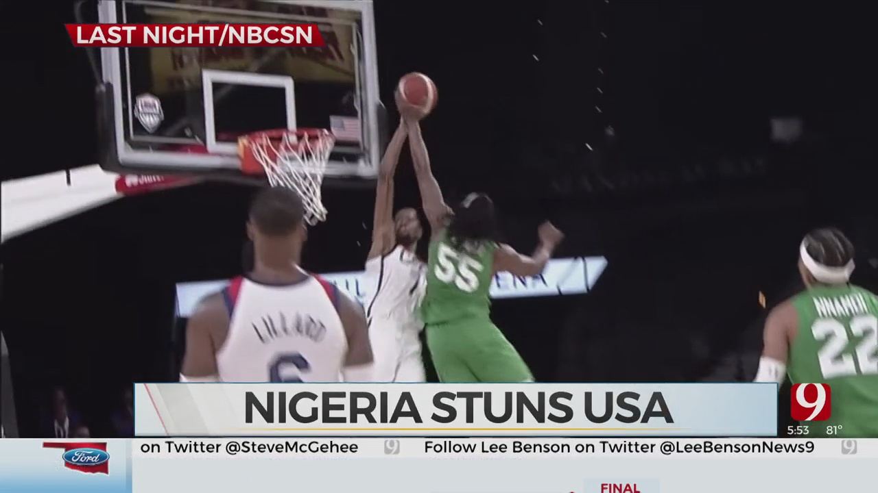 Team Nigeria Stuns Kevin Durant, Team USA In Exhibition Matchup