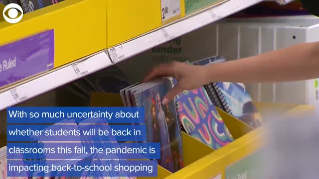 WATCH: Back-To-School Shopping Reflects Uncertain Times During Pandemic