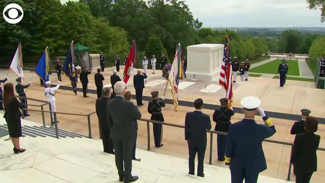 Watch: President Trump Visits Tomb Of The Unknown Soldier