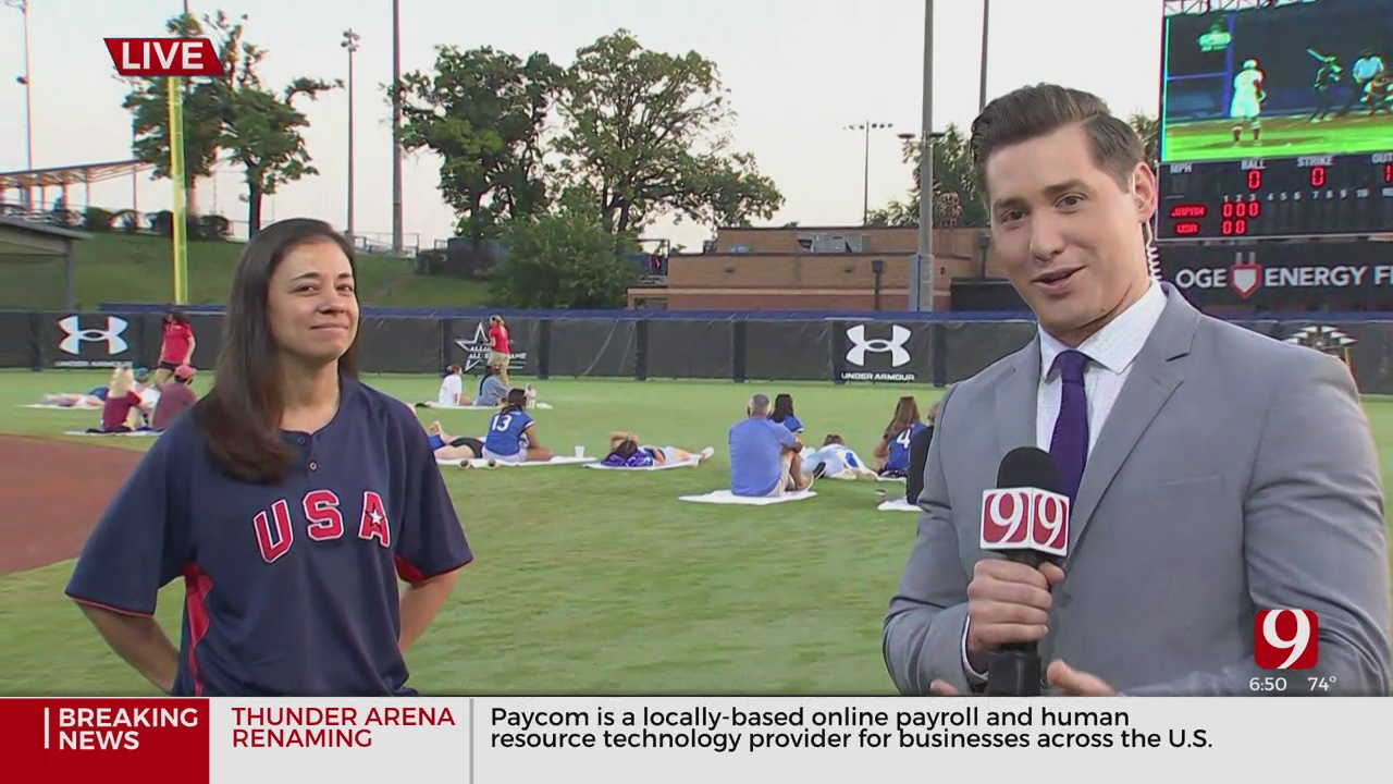 Fans Cheer In OKC For Team USA During Softball's Gold Medal Game At Tokyo Olympics