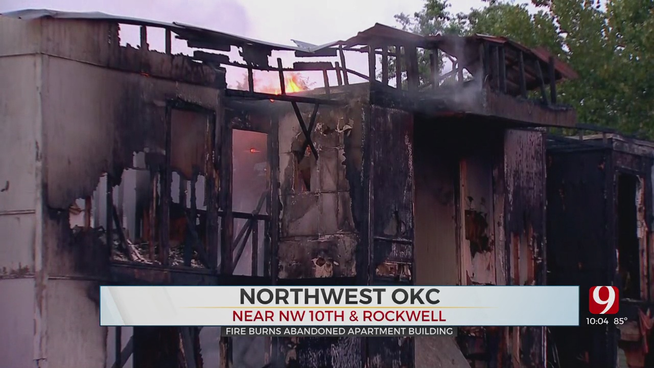 Fire Engulfs Abandoned Apartment Complex In NW OKC