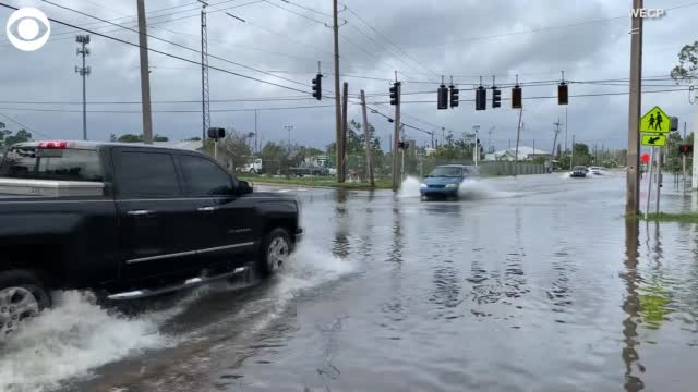 Watch: Aftermath Of Hurricane Sally