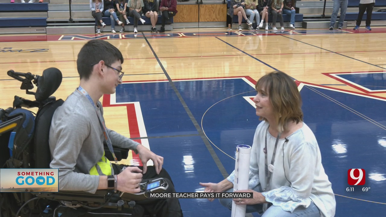 Something Good: News 9's Teacher Of The Month Pays It Forward To Help Student Get Wheelchair