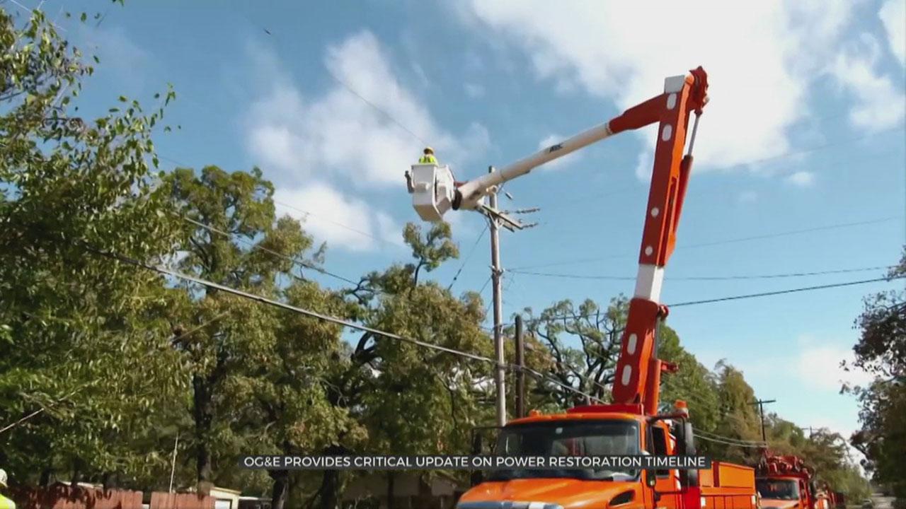 OG&E Provides Critical Update On Power Restoration Timeline