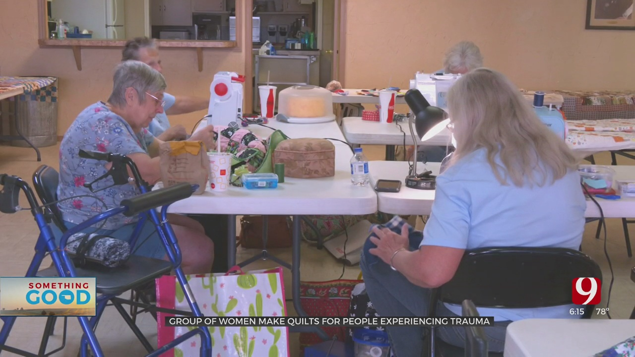 Something Good: Perkins Women Gather To Sew Quilts For Victims Of Trauma