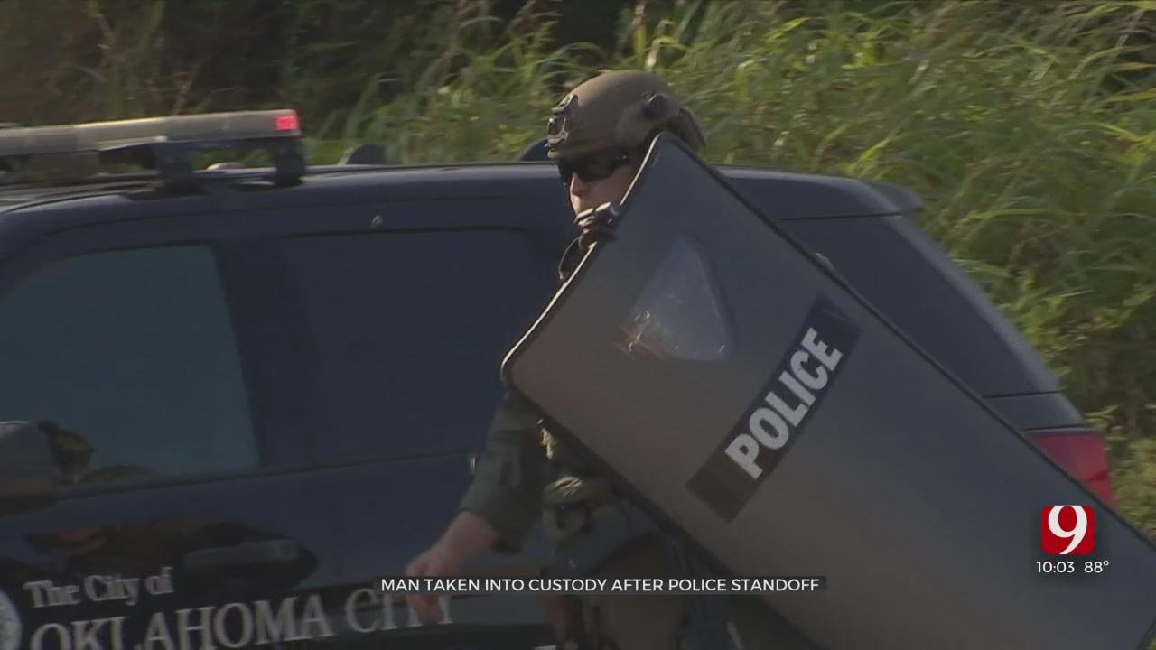 Man Taken Into Police Custody Following Standoff In SE OKC