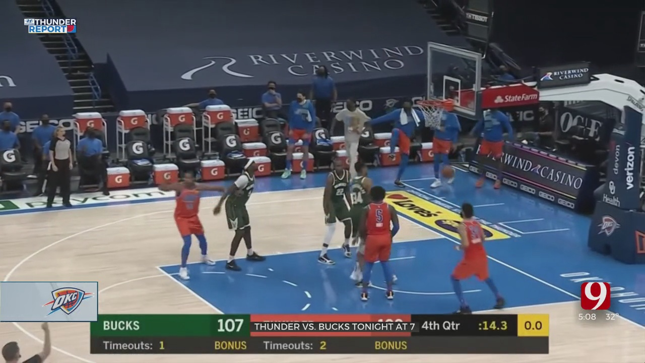 Thunder Travels To Play The Bucks