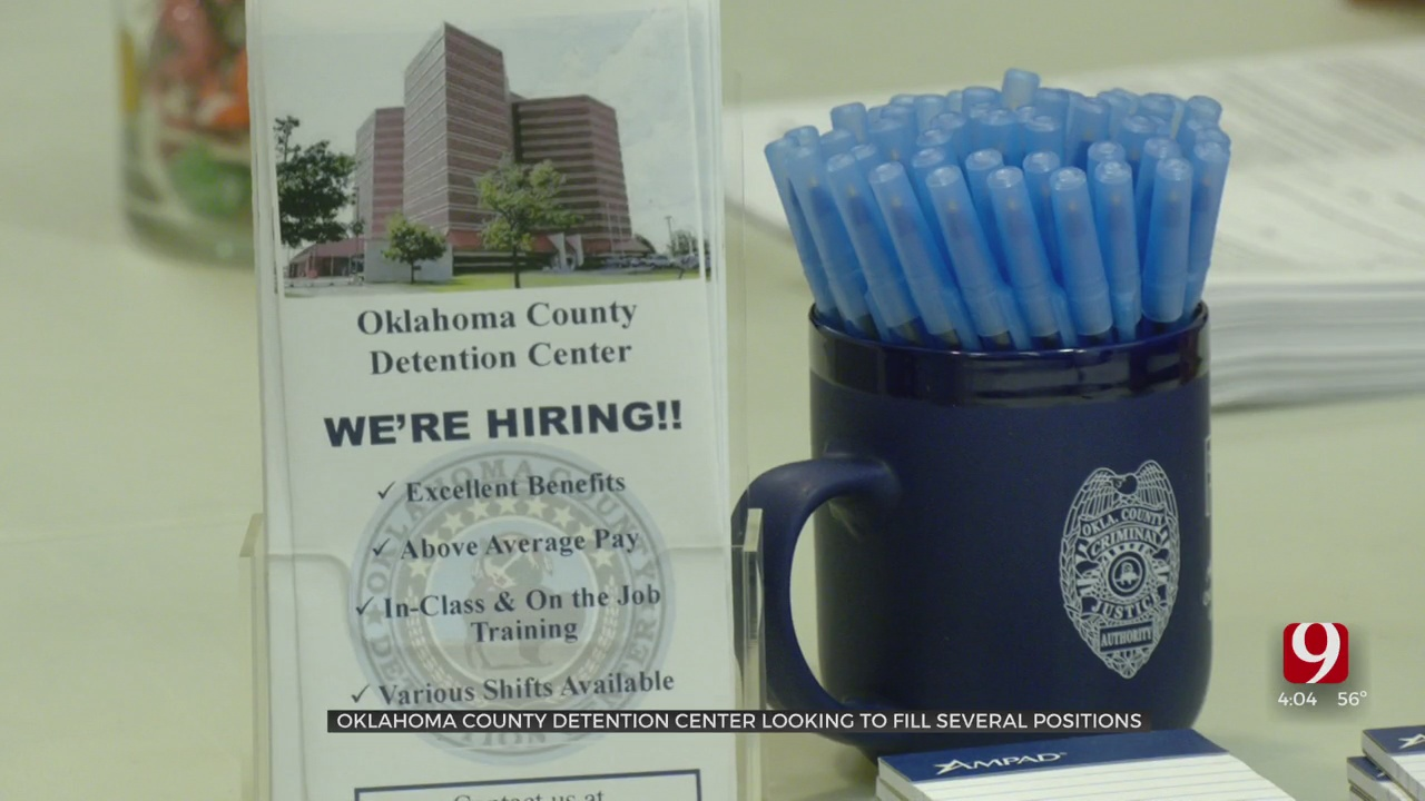 Oklahoma City Detention Center Holds Job Fair To Fill Several Positions