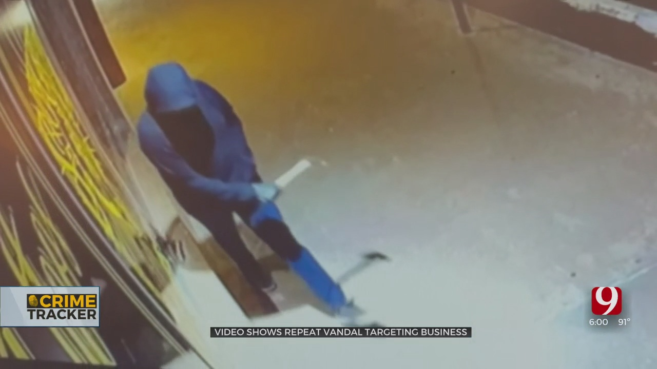 NW OKC Tattoo Parlor Owner Fed Up With Vandalism, Offering Cash Reward To Catch Suspect
