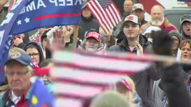 Hundreds Of Oklahomans Gather At State Capitol To Support President Trump