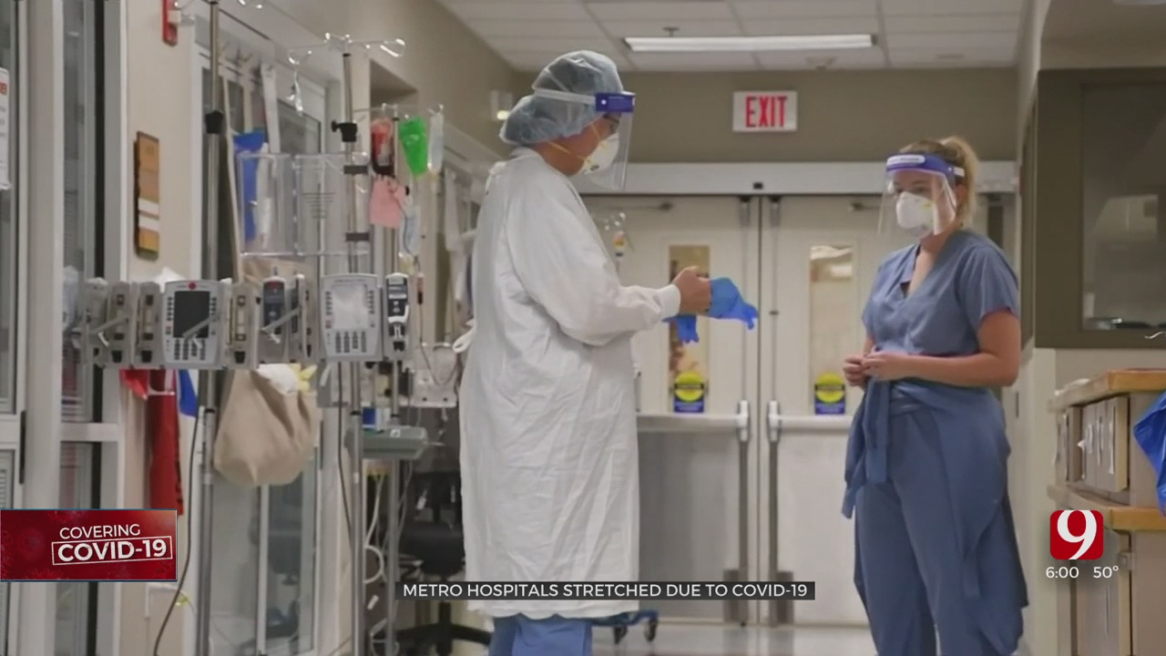 'We Are Stretched': Oklahoma Hospitals At Capacity Working To Care For Patients With & Without COVID