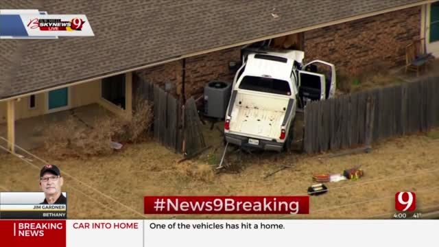 Crews Respond To Multi-Vehicle Accident After Truck Crashes Into Bethany Home