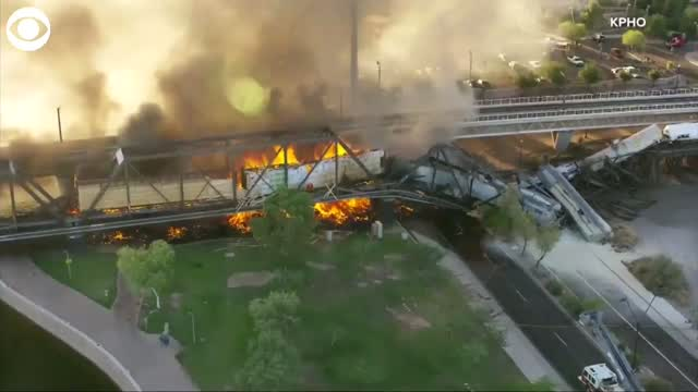 WATCH: An Aerial View Of A Bridge Collapse In Arizona