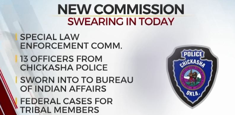 Bureau Of Indian Affairs Swearing In Chickasha Police Officers For Commission