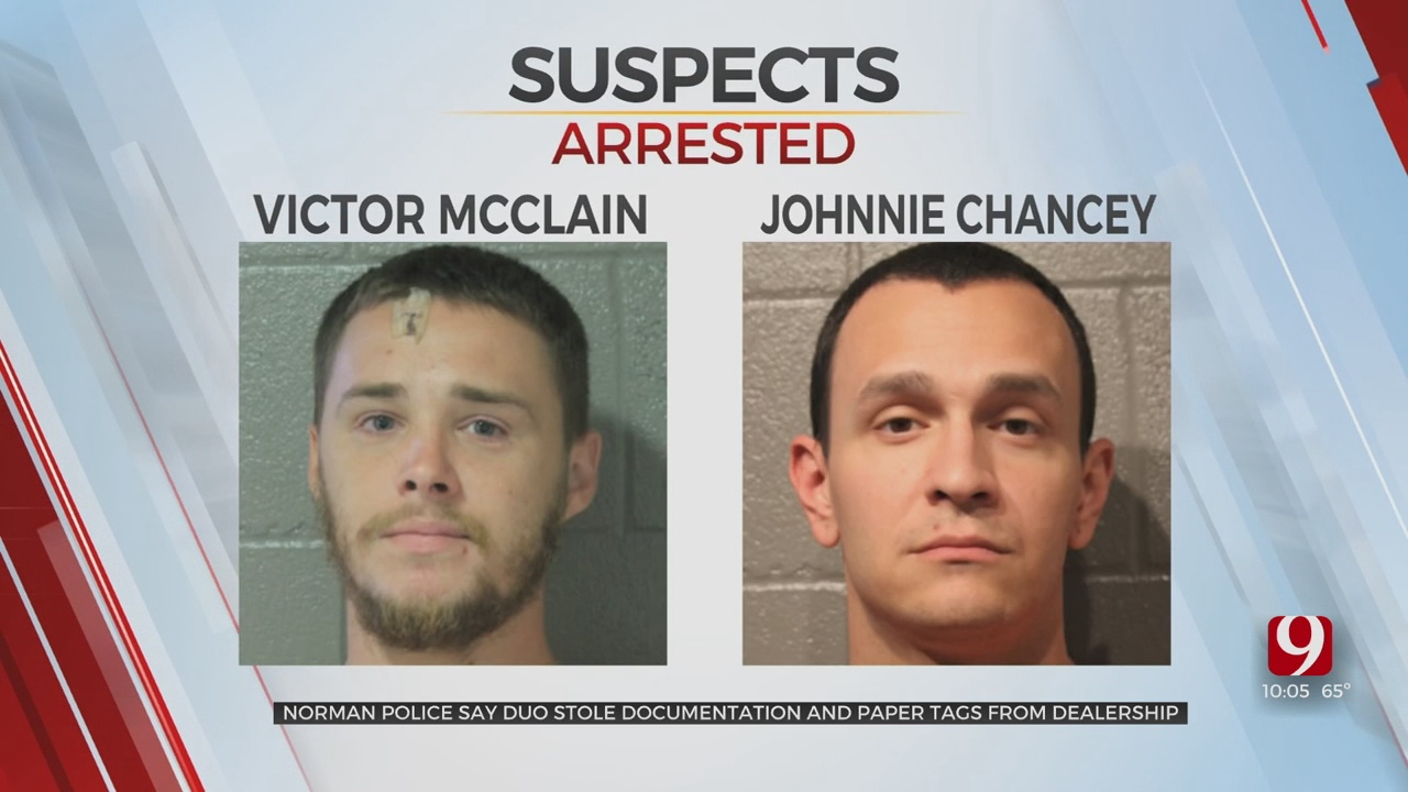 2 Suspects Arrested In Norman, Found With Tools For Vehicle Burglaries & Stolen Dealership Documents