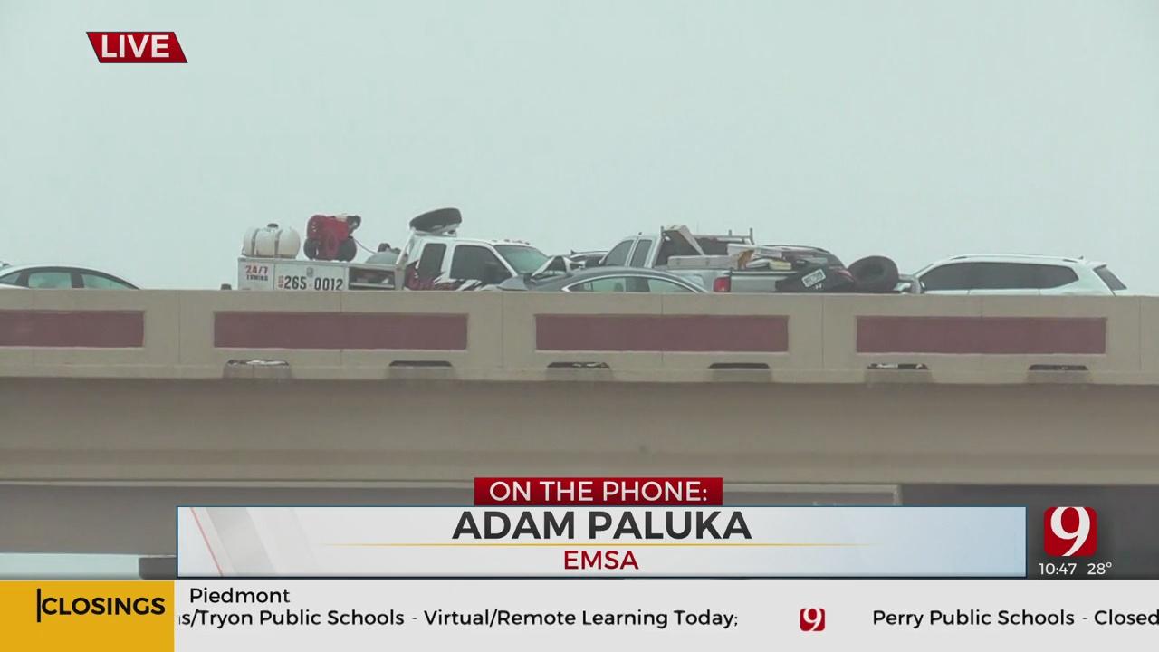 EMSA Spokesman Adam Paluka Talks About Wrecks, Freezing Temps In Okla.