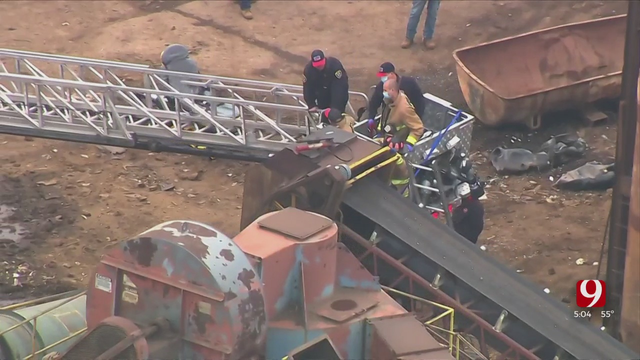 Medical Professionals Help Firefighters Free Worker From Scrap Yard Accident