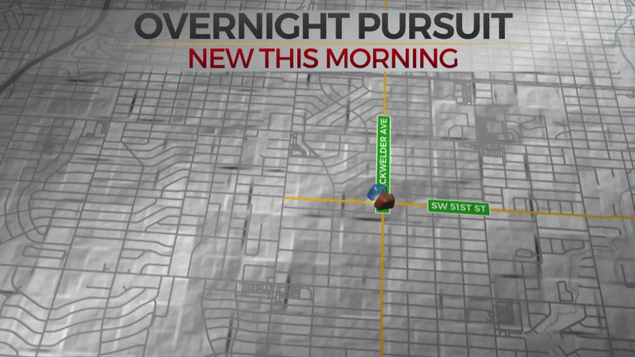 Man In Custody After Overnight Pursuit In SW OKC