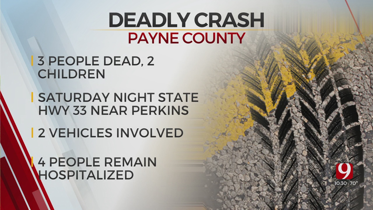 3 Dead, 2 More In Critical Condition After Payne County Collision