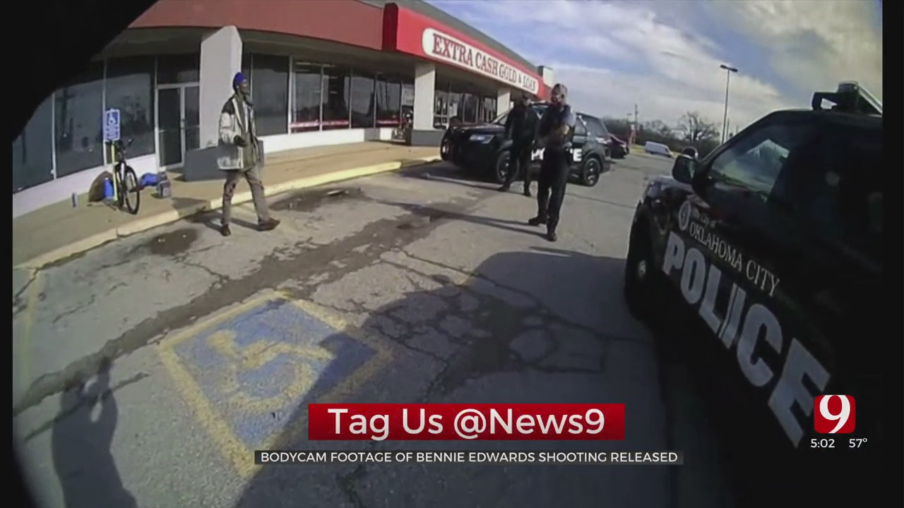 OKC Police Release Bodycam Footage Of The Police Shooting Of Bennie Edwards