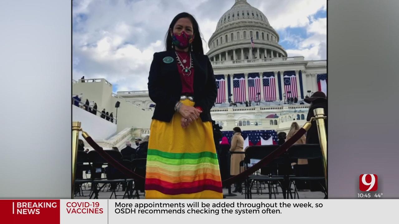Oklahoma Woman Designs Native Ribbon Skirt For Biden's Nominated Interior Secretary