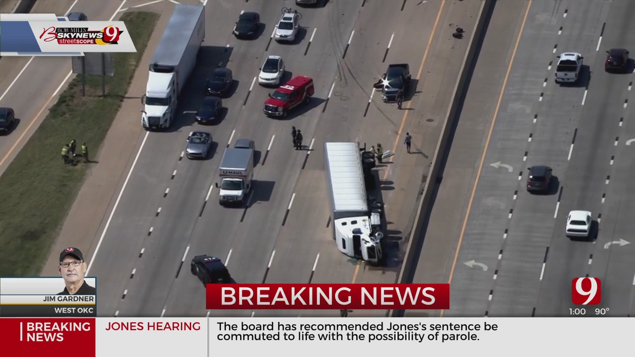 Semi Rollover On I-40 Eastbound