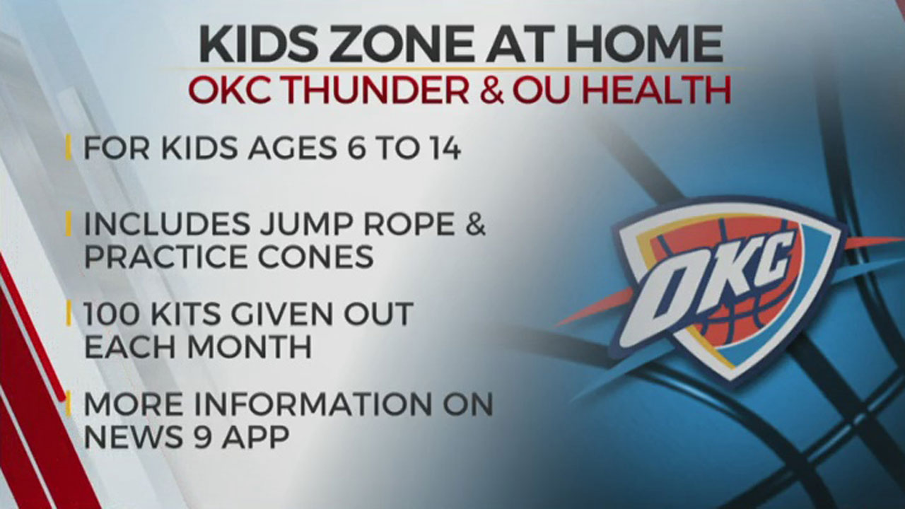 OKC Thunder, OU Health Launch Kids Zone At Home