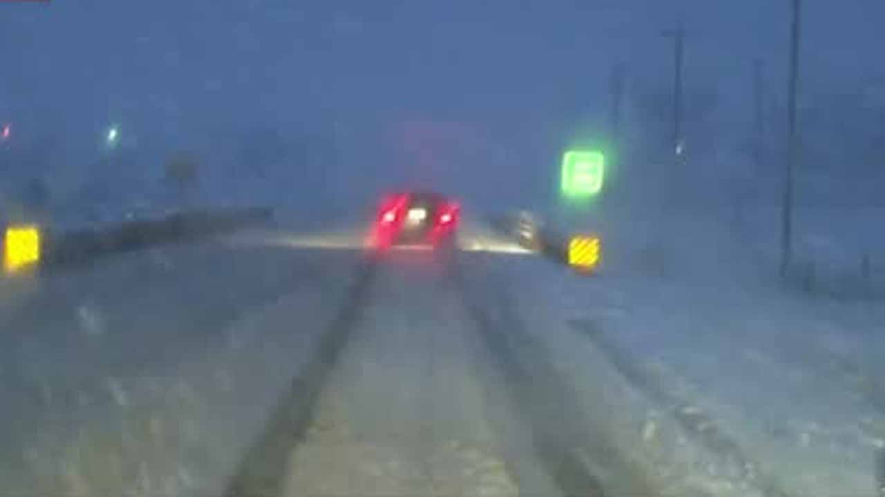 Road Conditions Slick, Snowy In OKC