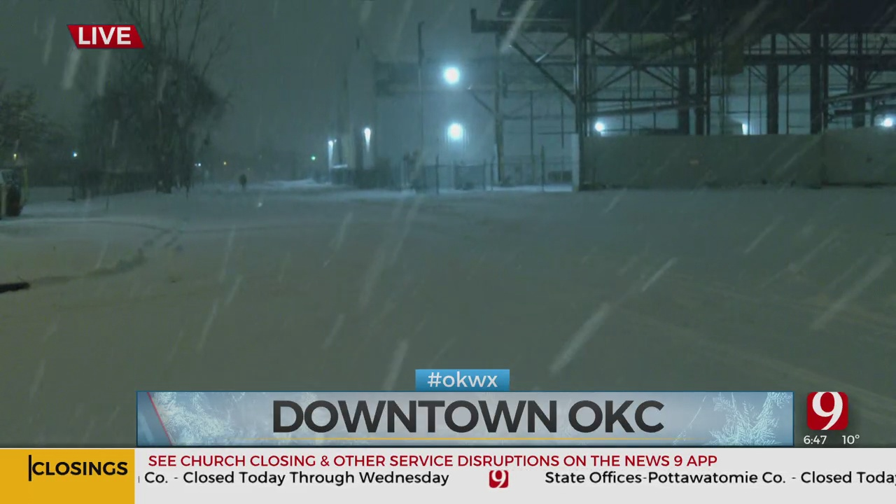 Shelters Will Not Turn People Away As Snow Falls In OKC
