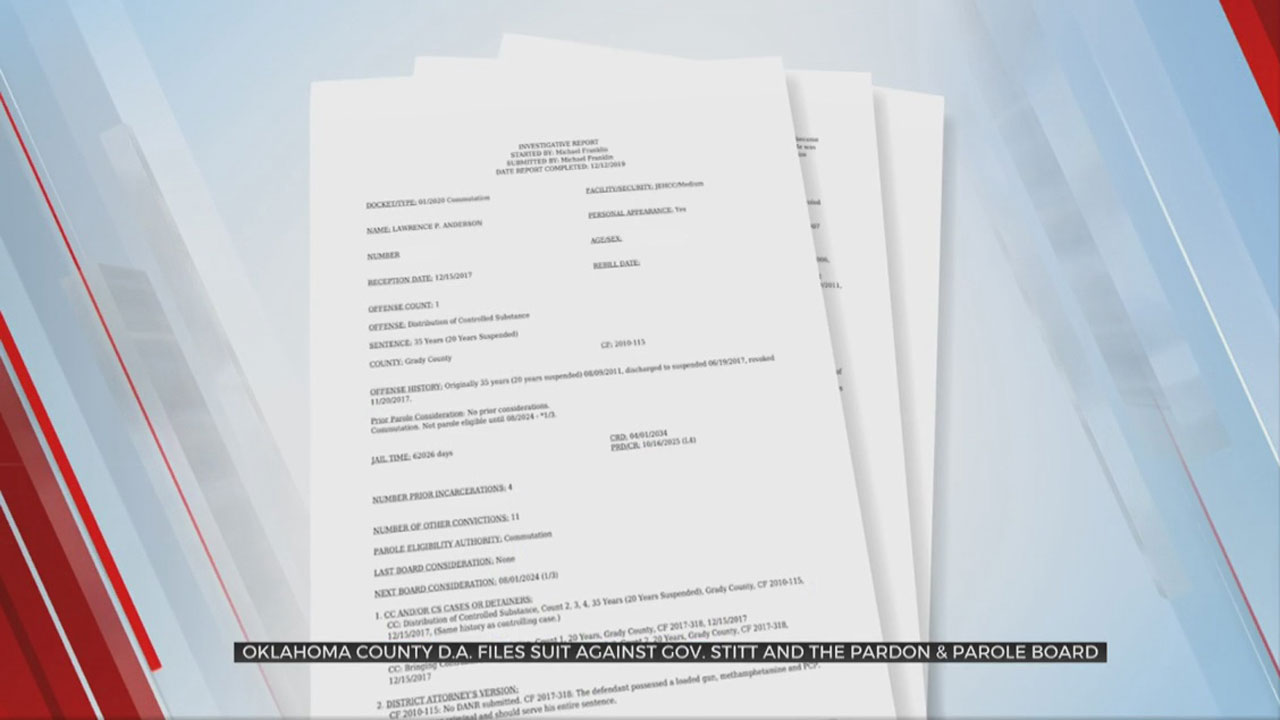 Okla. County DA Sues To Stop Early Prison Releases