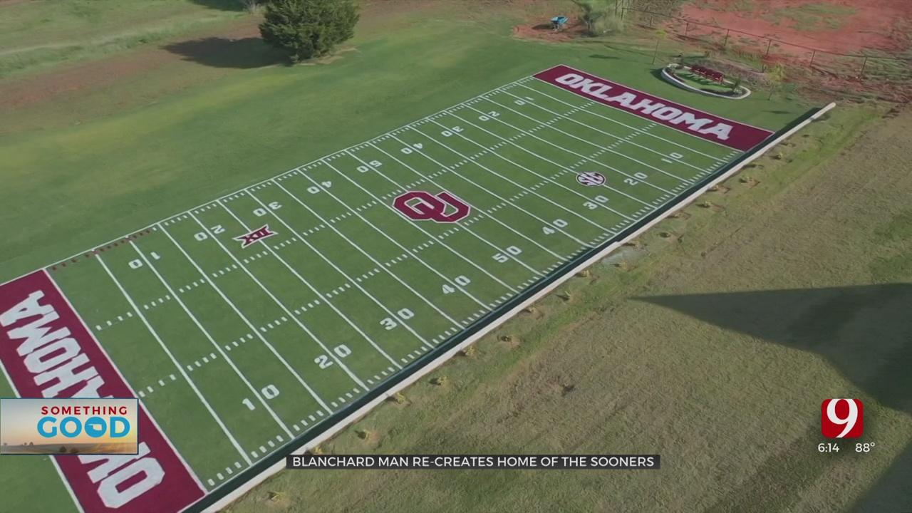 Family Embraces Yearly Tradition Of Recreating OU Football Field