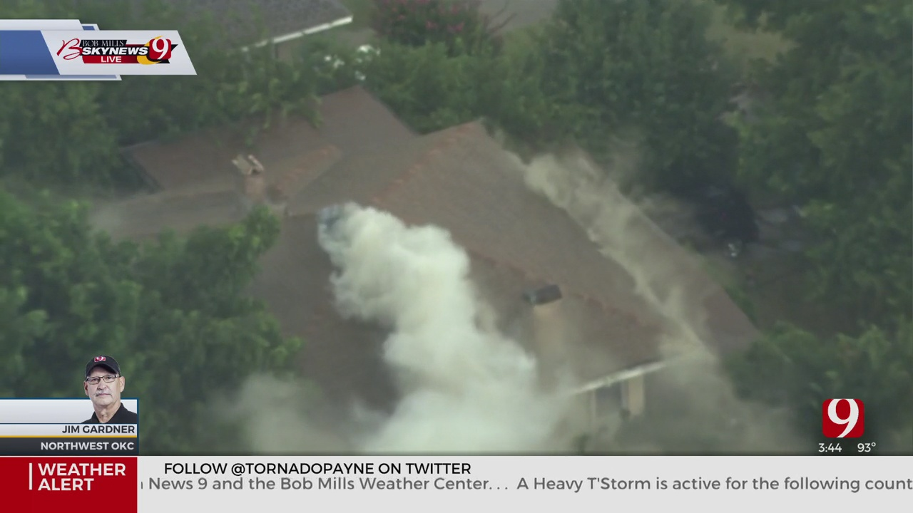 House Fire Sparked In NW OKC During Severe Storms