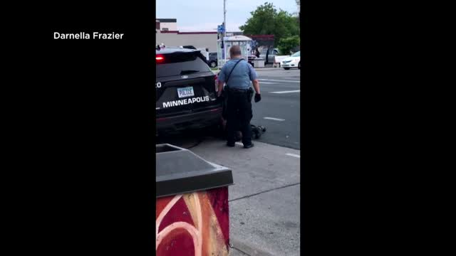 Video Shows Minneapolis Cop With Knee On Neck Of Motionless, Moaning Man Who Later Died
