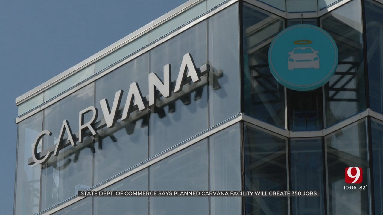 350+ Jobs Coming To OKC As Carvana Plans Construction Of New Facility Near Airport, Officials Say