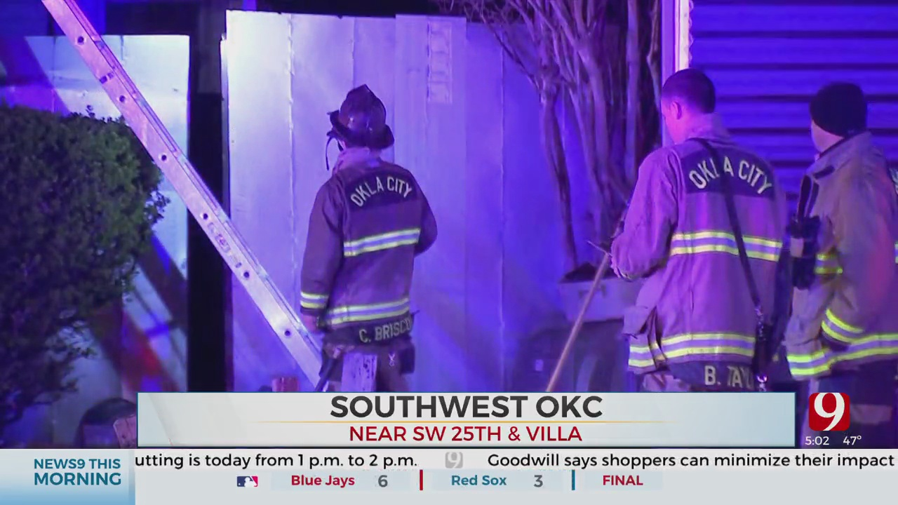 4 Rescued From Early Morning SW OKC Fire