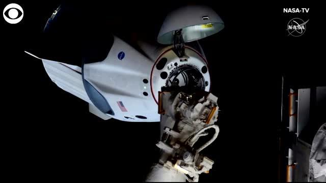 WATCH: SpaceX Spacecraft Docks To International Space Station