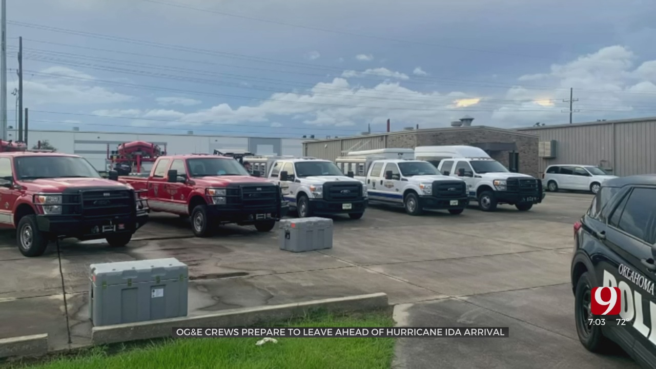 OG&E Crews Join Oklahoma Task Force 1 In Louisiana