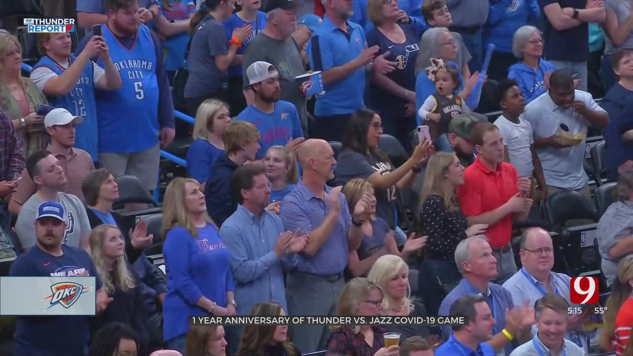 News 9's Steve McGehee Remembers COVID Halting The Thunder-Jazz Game One Year Ago