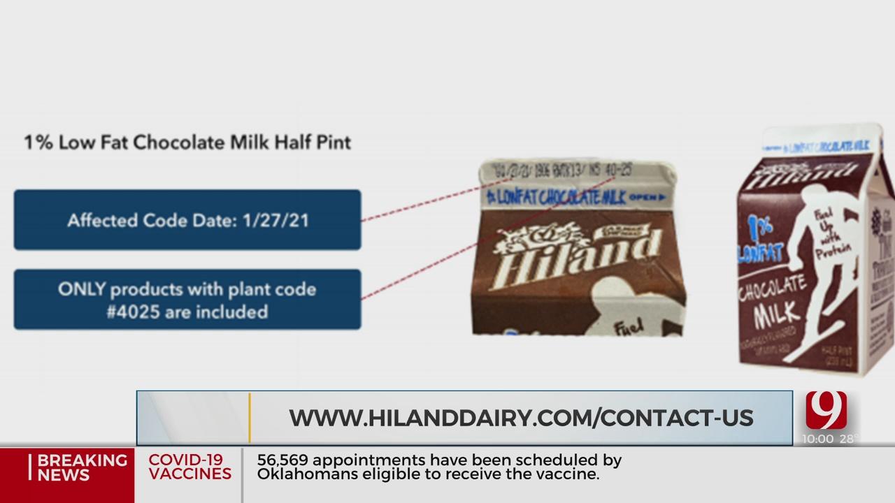 Hiland Dairy Foods Announces Recall Of Some Chocolate Milk Cartons