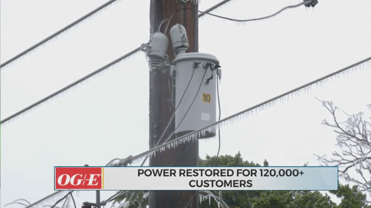 OG&E Working To Restore To Thousands Of Okahomans